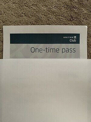 United Airlines Club Pass (Expires MAY 3 2020). Price For 1 Pass.