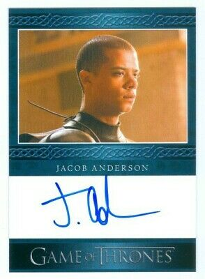 "Jacob Anderson ""Grey Worm Autograph Card"" Game Of Thrones Season 5"