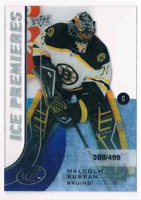 2015-16 Upper Deck Ice Premieres Malcolm Subban Rookie 388/499 Boston Bruins