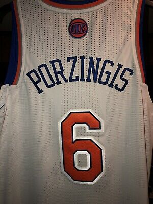 9db5502d2 Kristaps Porzingis Adidas On-Court Authentic Jersey New York Knicks White  Home L