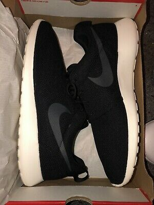 390f90c2b3e6 Nike Roshe One Running Shoe Black Sail Anthracite PRE-OWNED with Inserts