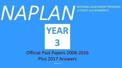 NAPLAN Past Papers Year 3 2008 to 2016 with answers + 2017 answers
