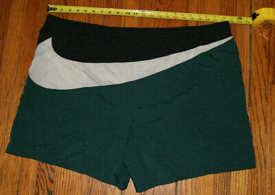 cd24383707 Vtg 90s Nike Swim Trunks Shorts Men 2XL Big Swoosh Black Green White Color  Block