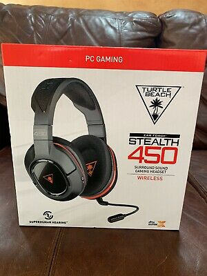 3c0f671390c New Sealed Turtle Beach Ear Force Stealth 450 Wireless Gaming Headset Black  Red