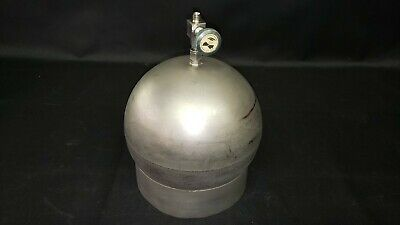 Varian High Vacuum 9 Inch Stainless Steel Gas Sphere Chamber with Nupro Valve