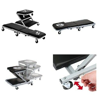 MECHANICS CREEPER SEAT Rolling Chair Repair Workshop Stool Garage Shop Cart Tray