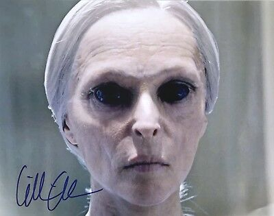 GILLIAN ANDERSON signed THE X-FILES / DANA SCULLY large 11x14 photo - PIC PROOF!