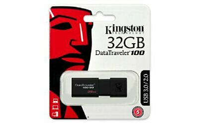 clef USB de marque Kingston 32 Gb /32 Go DataTraveler 100 G3 (DT100G3)