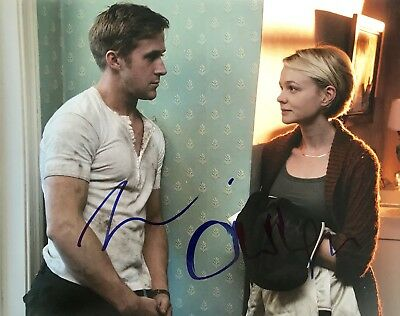 RYAN GOSSLING & CAREY MULLIGAN signed DRIVE large 11x14 photo - REAL! IN-PERSON!