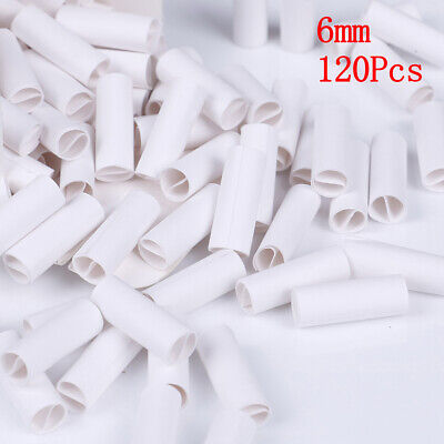 120x pre rolled natural unrefined cigarette filter rolling paper tips white/6mmJ