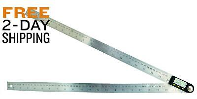 Saili 20 Inches Stainless Steel Digital Angle Ruler Goniometer,Angle Finder Rule