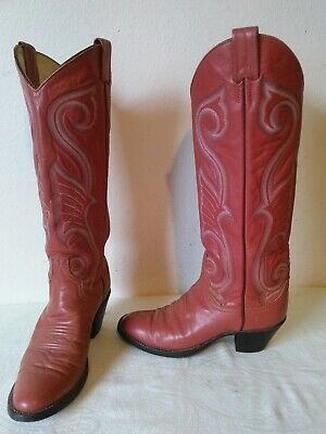 81330f2ea38 LARRY MAHAN WOMEN'S Pinkish Leather Cowboy / Western boots Size 6 N
