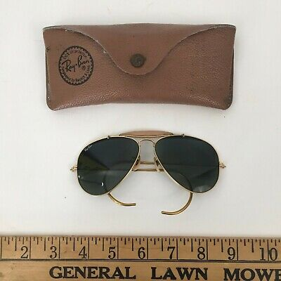 Original B & L Ray Ban Outdoorsman Style Aviators Ear wires 58 -14 SHIPS GLOBAL