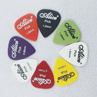 50pcs Guitar Picks Acoustic Electric Guitar Picks with Pick Case 6 thickness