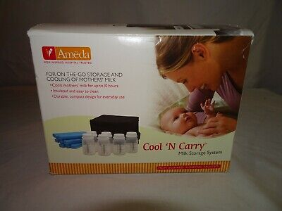 Ameda Thermal Cooler Bag With Ice-Pack + 6 Bottles new