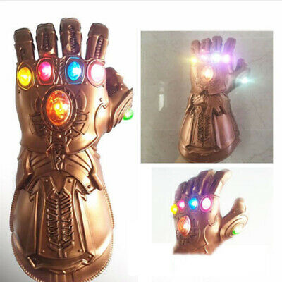 2019 Figure & LED Light Thanos Infinity Gauntlet Legends Gloves Avengers Cosplay