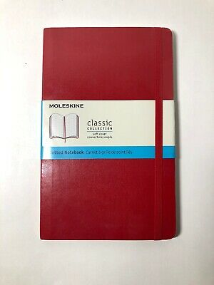 Moleskine Classic Notebook, Pocket, Dotted, Red Scarlet, Hard Cover(3.5 x 5.5) [