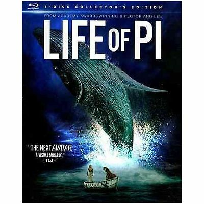 Life Of Pi 3D (Blu-ray, 3 Disc Collector's Edition, 3D Blu Ray DVD Canadian NEW