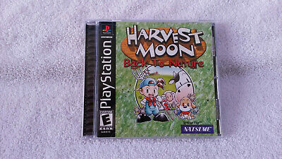 HARVEST MOON: BACK to Nature (Sony PlayStation 1, 2000) PS1 Disc