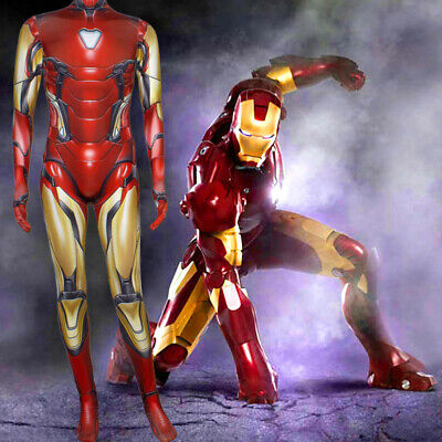 Avengers Endgame Iron Man Mark 85 Cosplay Costume Zentai Suit  For Adult & Kids