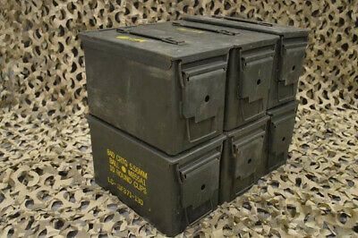 ONE - 50 Cal Ammo Can Metal Storage Box - LOCAL PICK UP ONLY