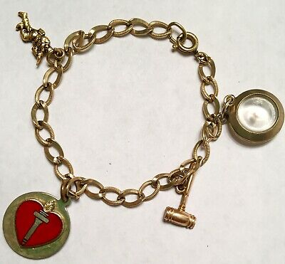 2540cdc5bcae3 VINTAGE GOLD FILLED Mustard Seed Lucite Bubble Bracelet Charm fob ...