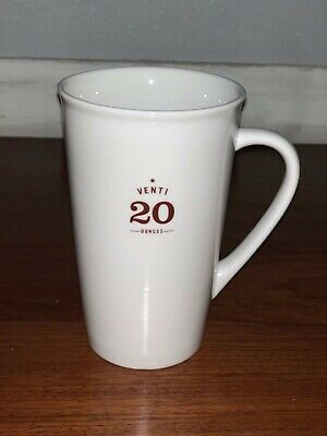 2010 STARBUCKS COFFEE COMPANY VENTI 20 oz COFFEE MUG LARGE
