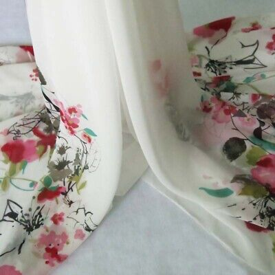 DIY Dress Gowns Fabric Flowers Printed Polyester Chiffon Gauze Material Handmade