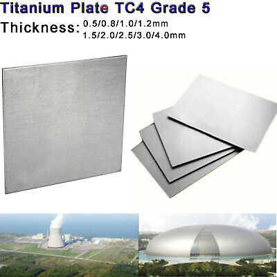 TC4/GR5 Titanium Alloy Plate Panel Sheet Durable Metal 0.5mm to 4mm thickness