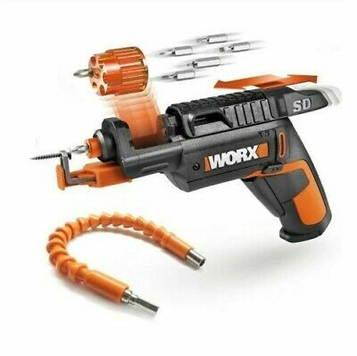 WORX WX255L.2 SD Cordless Screw Driver with Screw Holder w/ Flexible Shaft