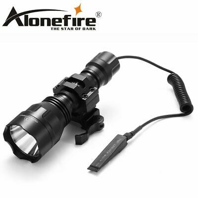 Tactical Flashlight Torch hunting 20mm Mount Airsoft Rifle Scope Shotguns light
