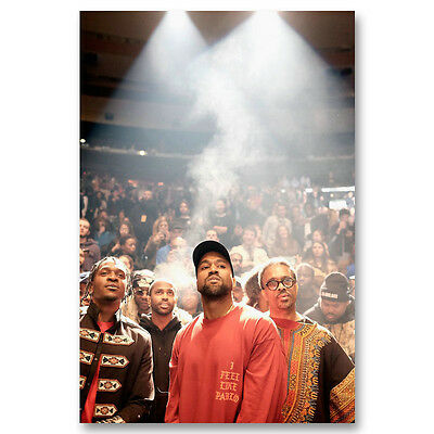 Kanye West The Life Of Pablo Music Star Art Canvas Poster Prints 8x12 24x36inch