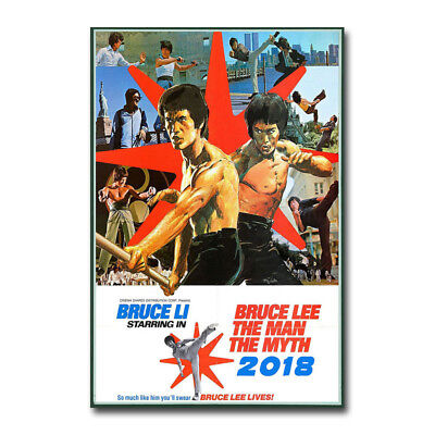 Bruce Lee Kung-Fu ENTER THE DRAGON Movie Art Canvas Poster Print 12x18 24x36inch