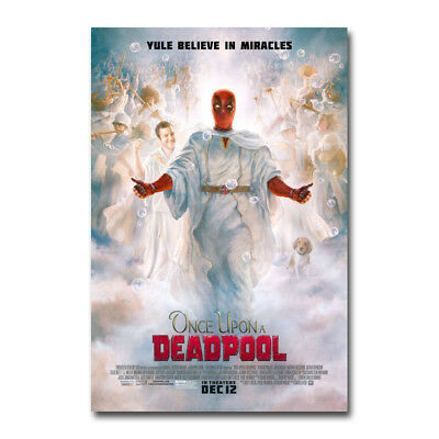 ONCE UPON A DEADPOOL Movie Art Canvas Poster Print