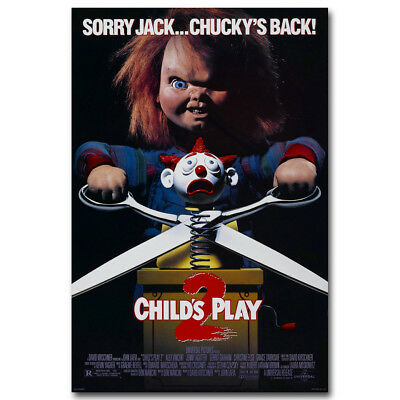 Chucky Child's Play Classic Horror Movie Art Canvas Poster Prints 8x12 24x36inch