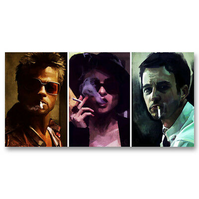 Fight Club Classic Movie Art Canvas Vintage Poster Prints 8x16 24x40inch