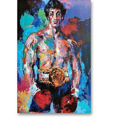 Rocky Balboa Sylvester Stallone Motivational Movie Canvas Poster Art Prints