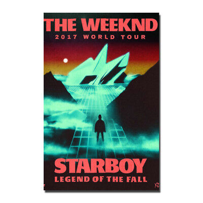 The Weeknd Starboy 2017 Movie Canvas Poster Art Prints 12x18 inch Bedroom Decor