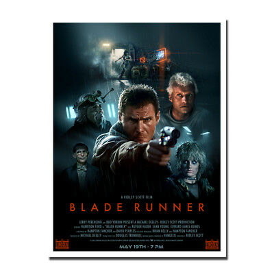 Blade Runner 1982 Movie Canvas Poster Art Prints 8x11 24x32 inch Wall Decoration