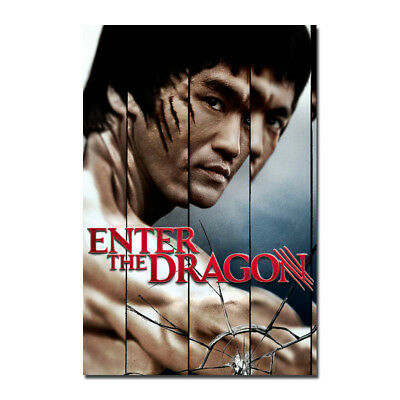Hot Gift C461 ENTER THE DRAGON Movie TV Show 24x36in Poster Art Bruce Lee