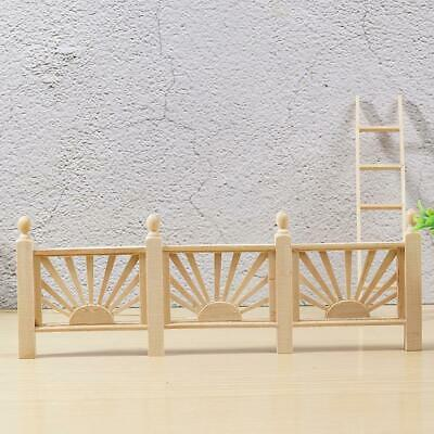 1:12 Doll House Furniture Model Wooden European Classical  Long Fence Modern.