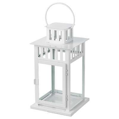 IKEA candle holders lantern BORRBY for block white in/outdoor 28 cm