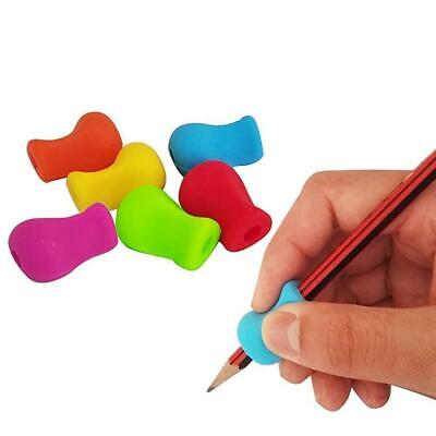 10pcs Silicone Gel Pencil Aid Grip Right Pen Left Handed Handwriting Stationer