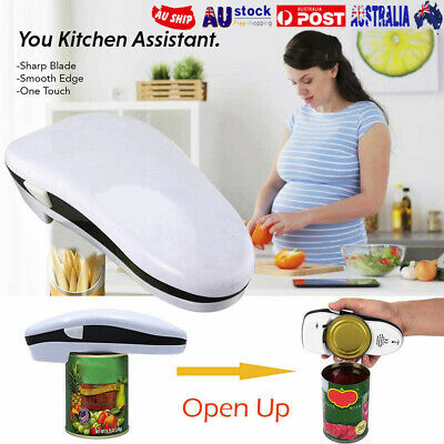 Automatic Electric Can Tin Opener No Hands Battery Operated Kitchen Restaurant