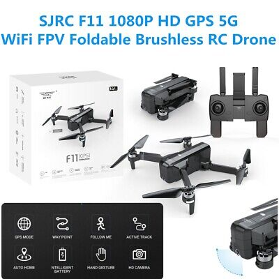 SJRC F11 HD FPV Cam Drone Folding GPS 5G WiFi RC Brushless Quadcopter Drone AU
