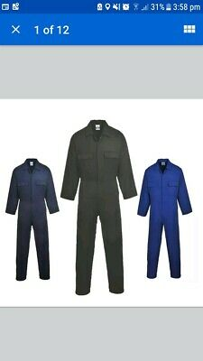 PORTWEST S999 Euro work coverall/boilersuit/overalls all colours size M NAVY