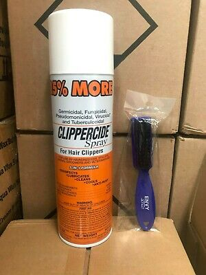 Clippercide Spray Hair Clippers 5 in 1 Formula 25% Extra Free + Envy Fade Brush