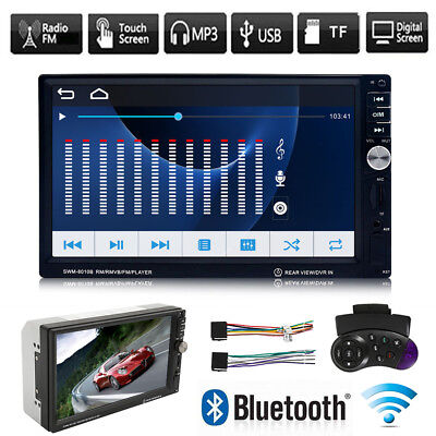 """7"""" Double 2DIN Android Touch Screen Bluetooth Car Stereo MP5 Player Radio"""