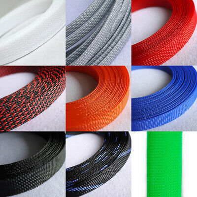 30mm Color Expandable Braided Sleeving Cable Wire 3 Weave High Density Sheathing
