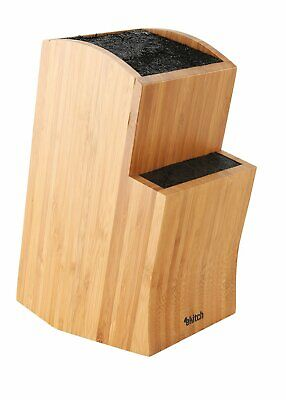 50% off Universal Stepped Knife Block Bamboo